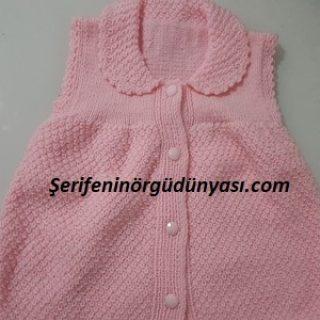 jile olabilen kız bebek yeleği (2)